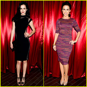 Krysten Ritter & Lacey Chabert - Just Jared Halloween Party 2013