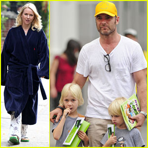 Liev Schreiber Spends 46th Birthday with His Boys!