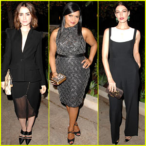 Lily Collins & Jessica Pare: CFDA & Vogue Fashion Fund Dinner!