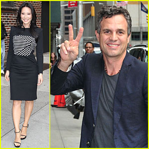 Lucy Liu & Mark Ruffalo: 'David Letterman' Guests!