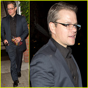 Matt Damon Has Run In with Couch at Il Cielo!