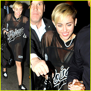 Miley Cyrus: 'Saturday Night Live' After Party in Sheer Outfit!