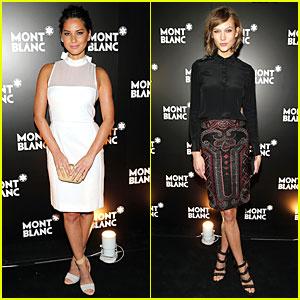 Olivia Munn & Karlie Kloss: Montblanc Madison Ave. Opening!