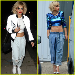 Rita Ora: Rimmel London Shoot Before Studio Stop!