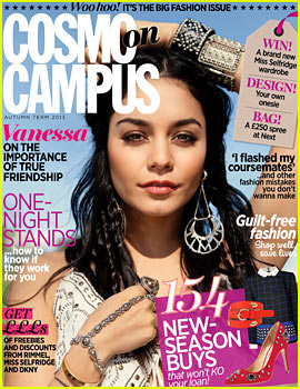 Vanessa Hudgens Covers 'Cosmo on Campus' Autumn 2013