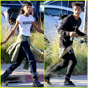 Willow & Jaden Smith Dash to Malibu Country Mart!