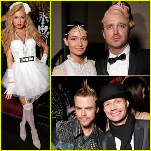 Aaron Paul & Paris Hilton: 'Treats!' Magazine Halloween Party!