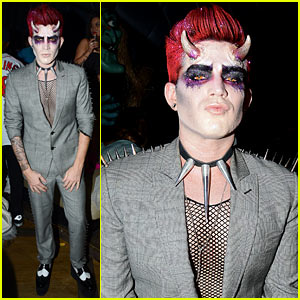 Adam Lambert Hosts Halloween Party, Dresses as Ghoulish Devil!