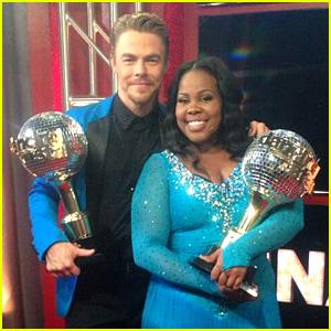 'Glee' Cast Congratulates Amber Riley on 'Dancing' Win (Video)