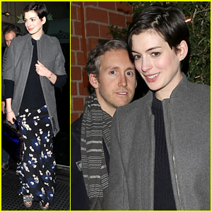 Anne Hathaway & Adam Shulman Are Inseparable on Saturday!