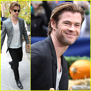 Chris Hemsworth: Different Blazers for 'Thor' NYC Promotion!
