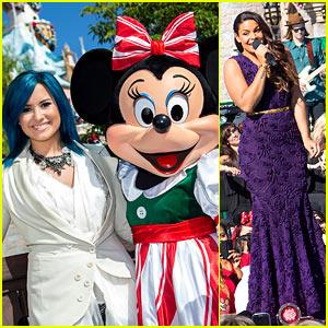 Demi Lovato & Jordin Sparks: Disney Christmas Parade Taping!