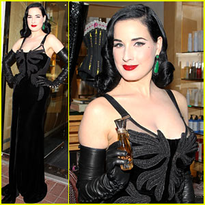 Dita Von Teese: 'Erotique' Fragrance Launch!