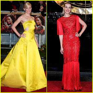Elizabeth Banks & Jena Malone: 'Catching Fire' World Premiere!
