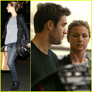 Emily VanCamp & Joshua Bowman Grab Late Night Groceries