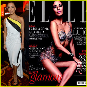 Eva Longoria Covers Spanish 'Elle', Attends Event in Vegas!