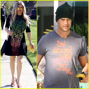 Fergie Attends Sister's Baby Shower, Josh Duhamel Works Out