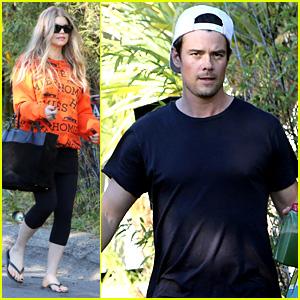 Fergie: Halloween Festive in Orange Sweatshirt!