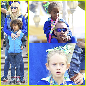 Heidi Klum Spends Sunday at Disneyland with Family!