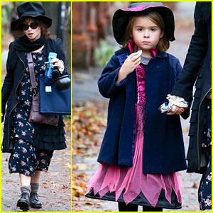 Helena Bonham Carter & Nell Look Ready for Halloween!