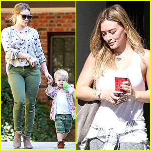 Hilary Duff Comes to Luca's Aid After Fall