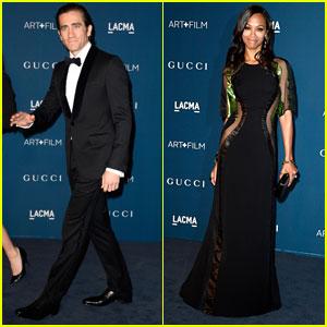 Jake Gyllenhaal & Zoe Saldana - LACMA Art & Film Gala 2013