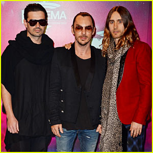 Jared Leto & Thirty Seconds to Mars - MTV EMA 2013 Red Carpet