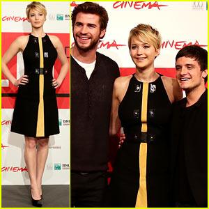 Jennifer Lawrence & Liam Hemsworth: 'Catching Fire' Rome Photo Call!