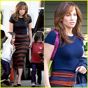 Jennifer Lopez Surprised by Her Kids on 'Boy Next Door' Set!