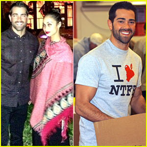Jesse Metcalfe & Cara Santana Volunteer Before Cancun Trip!