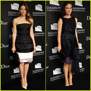 Jessica Biel & Natalie Portman: Guggenheim Gala 2013