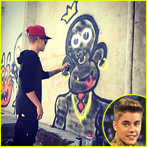 Justin Bieber Charged with Vandalism After Spray Painting Graffiti
