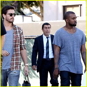 Kanye West Goes Shopping with Scott Disick