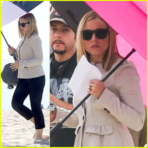 Kristen Bell: 'House of Lies' Beach Filming