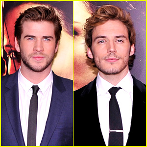 Liam Hemsworth & Sam Claflin: 'Catching Fire' NYC Premiere!