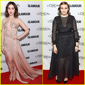 Lily Collins & Lena Dunham: Glamour's Women of the Year Awards 2013