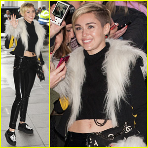 Miley Cyrus Steps Out After Lighting Blunt at MTV EMA 2013