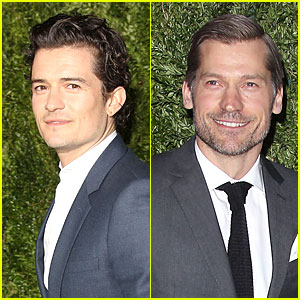 Orlando Bloom & Nikolaj Coster-Waldau: CFDA Fashion Fund Finalists Celebration
