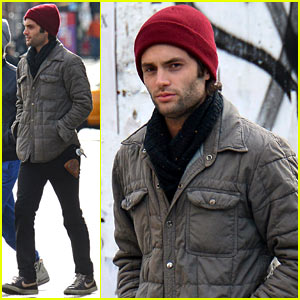 Penn Badgley Bundles Up After Celebrating Birthday!