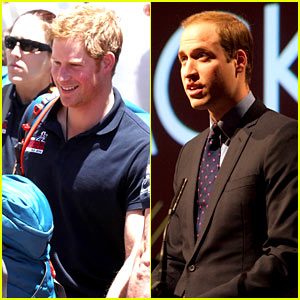Prince Harry Lands in Cape Town, Prince William Gives Speech