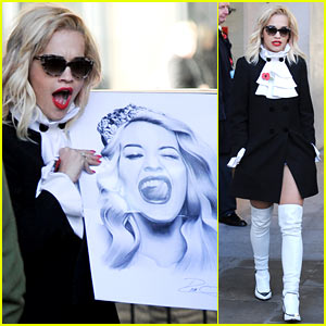 Rita Ora Wakes Up Bright & Early to Co-Host Radio Show!