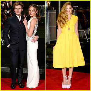 Sam Claflin & Willow Shields: 'Catching Fire' London Premiere!