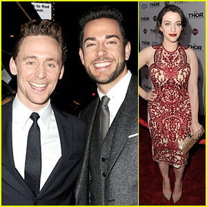 Tom Hiddleston & Kat Dennings: 'Thor' Hollywood Premiere!