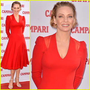 Uma Thurman is Red Hot for Campari Calendar Photo Call!