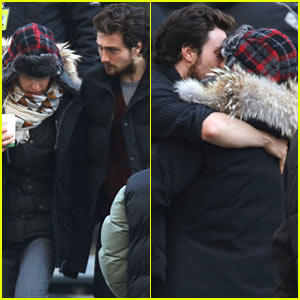 Aaron Taylor-Johnson Visits Wife/Director Sam on 'Fifty Shades' Set!