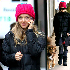 Amanda Seyfried: Monday Morning Dog Walk with Finn!