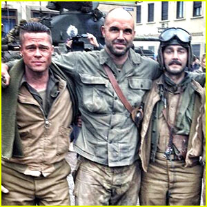 Brad Pitt & Shia LaBeouf: Day 56 of 'Fury' Production!
