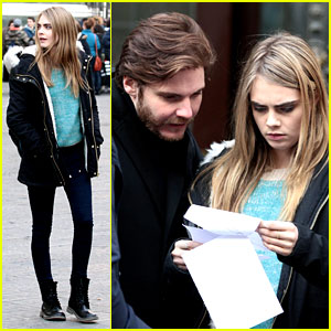 Cara Delevingne Films a Movie with Daniel Bruhl in Italy