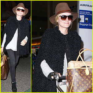 Diane Kruger: LAX Departure for European Film Awards!
