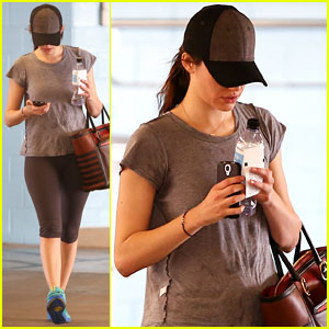 Emmy Rossum: Weekend Workout After Good Night's Rest